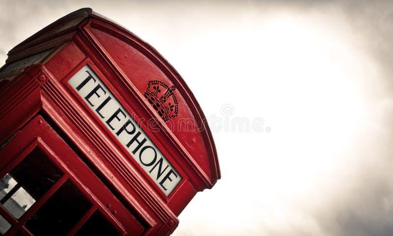 Telephone box in London. Classic red British telephone box in London stock photography