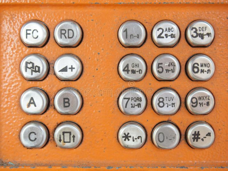 Telephone buttons. Background close up stock photos