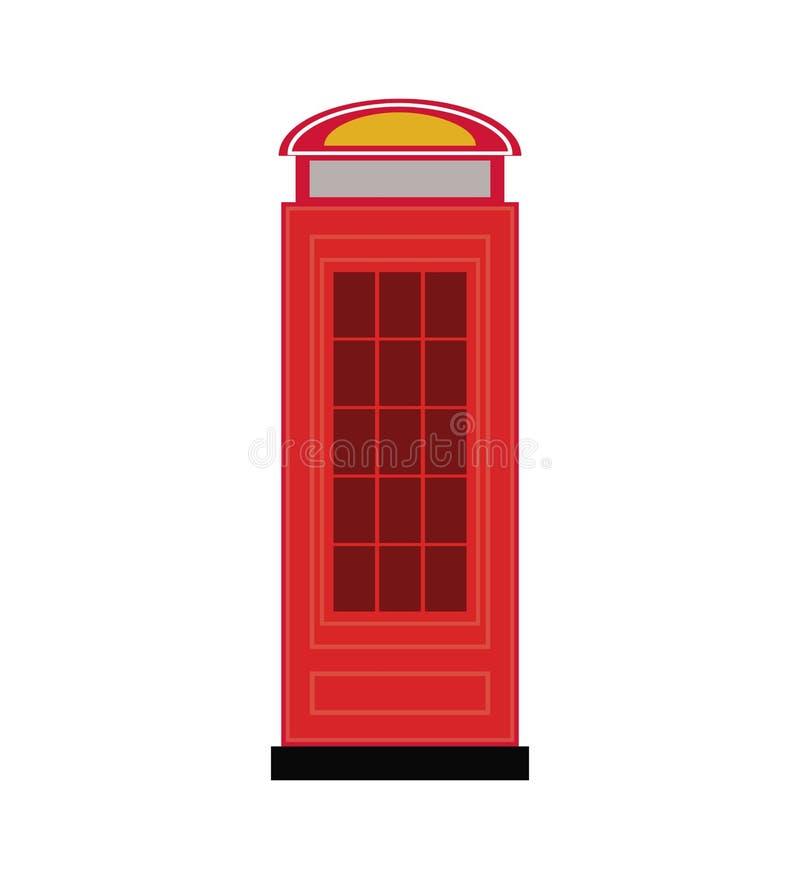 Telephone cab england isolated icon. Vector illustration design royalty free illustration