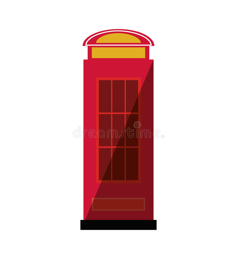 Telephone cab england isolated icon. Vector illustration design vector illustration