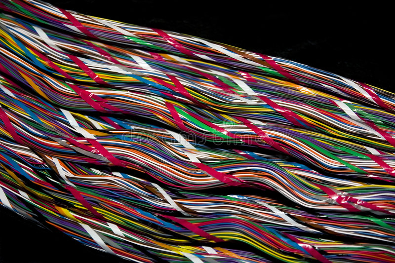 Download Telephone cable 3 stock photo. Image of color, background - 1363266