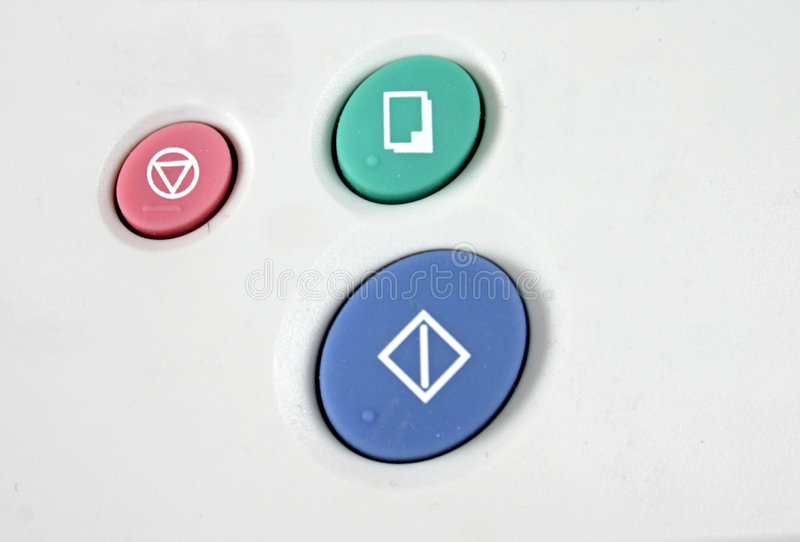 Telephone/Fax buttons stock images