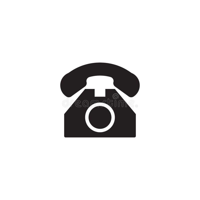 Telephone flat icon vector isolated on a white background. Flat web internet icon. Eps 10 stock illustration