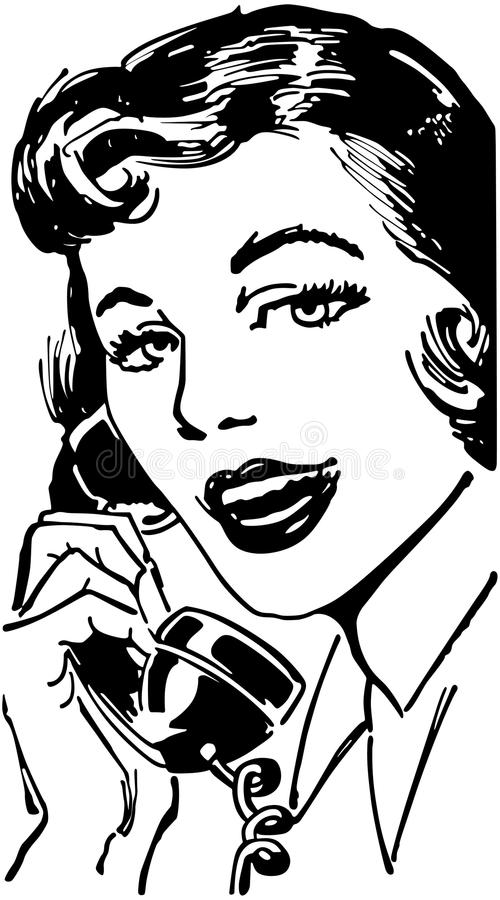 Telephone Gal vector illustration
