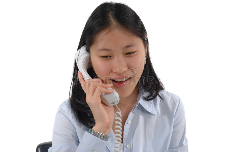 Download Telephone Girl stock image. Image of cell, woman, ling, asian - 61799