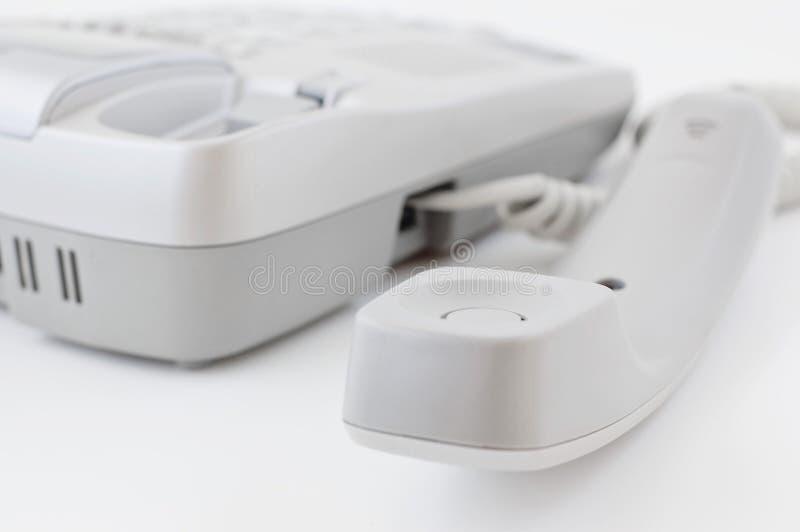 Telephone handset stock image