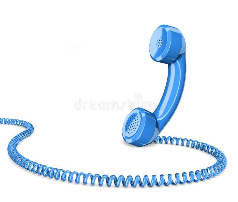 Telephone handset on white stock illustration