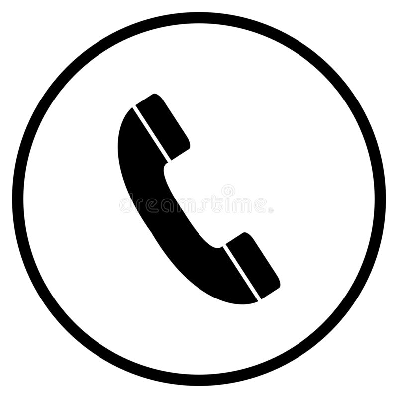 Telephone Hotline Icon in Circle. Telephone Symbol - Flat Icon in circle for Hotline Contact and Support stock illustration