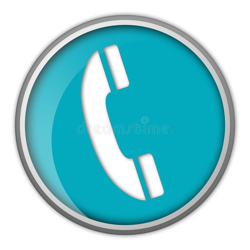Telephone icon royalty free illustration