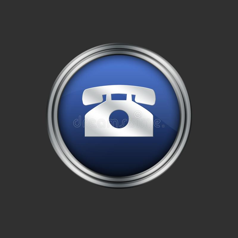 Download Telephone icon stock illustration. Image of badge, home - 16015886