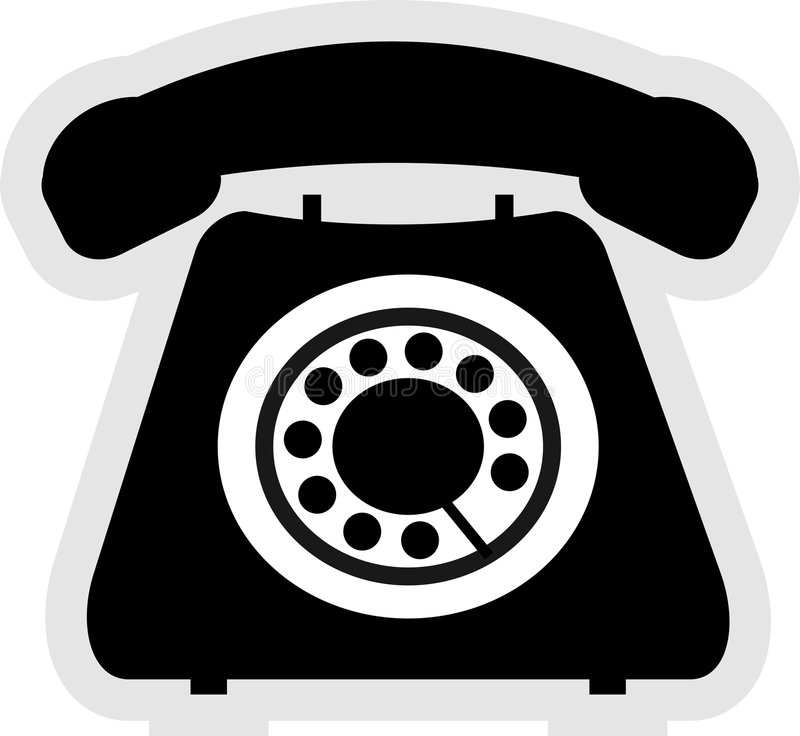 Download Telephone Icon stock vector. Image of phone, dial, isolated - 32625