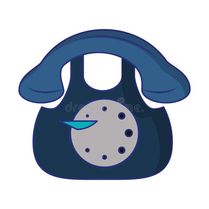 Telephone icon cartoon. Isolated vector illustration graphic design stock illustration