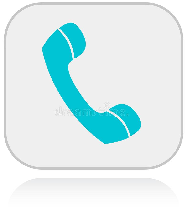 Telephone icon for communications and support stock illustration