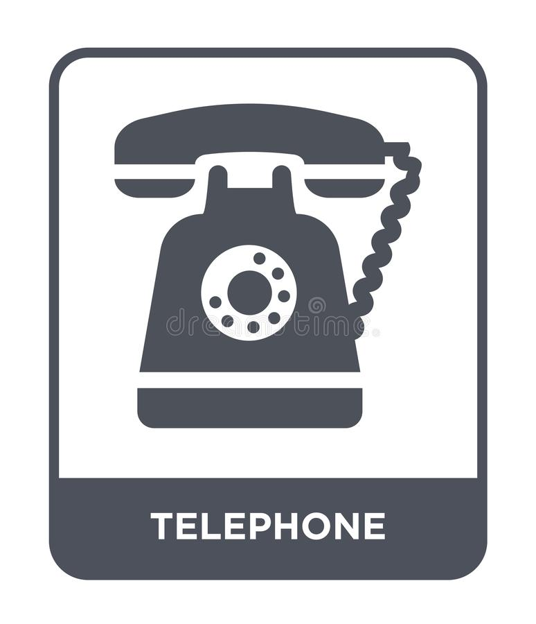 telephone icon in trendy design style. telephone icon isolated on white background. telephone vector icon simple and modern flat vector illustration