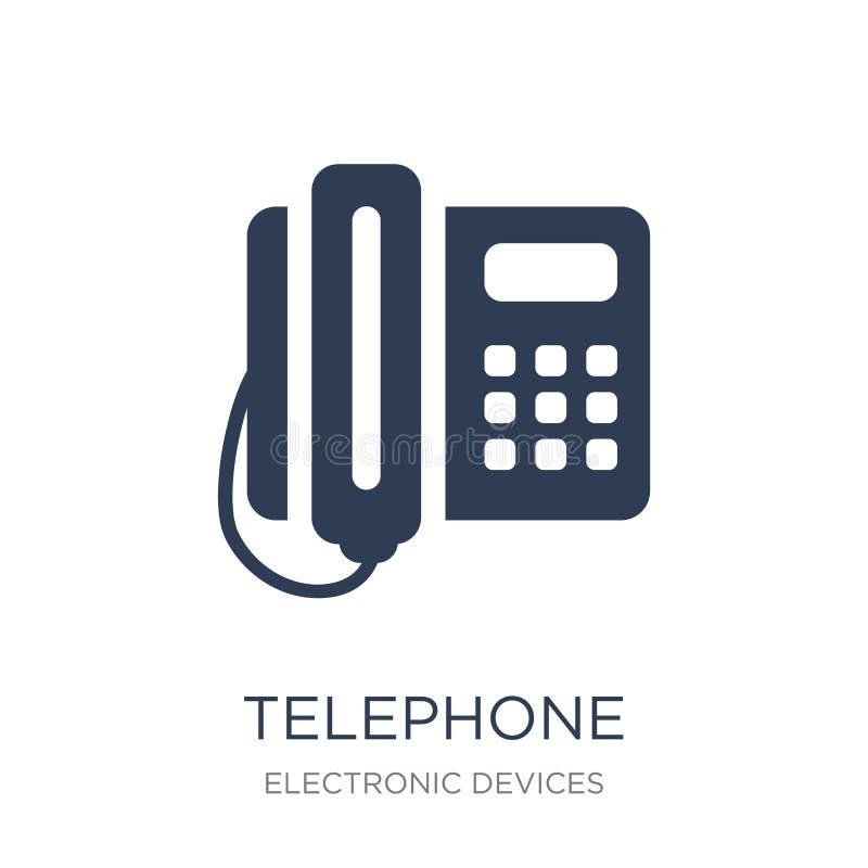 Telephone icon. Trendy flat vector Telephone icon on white backg royalty free illustration