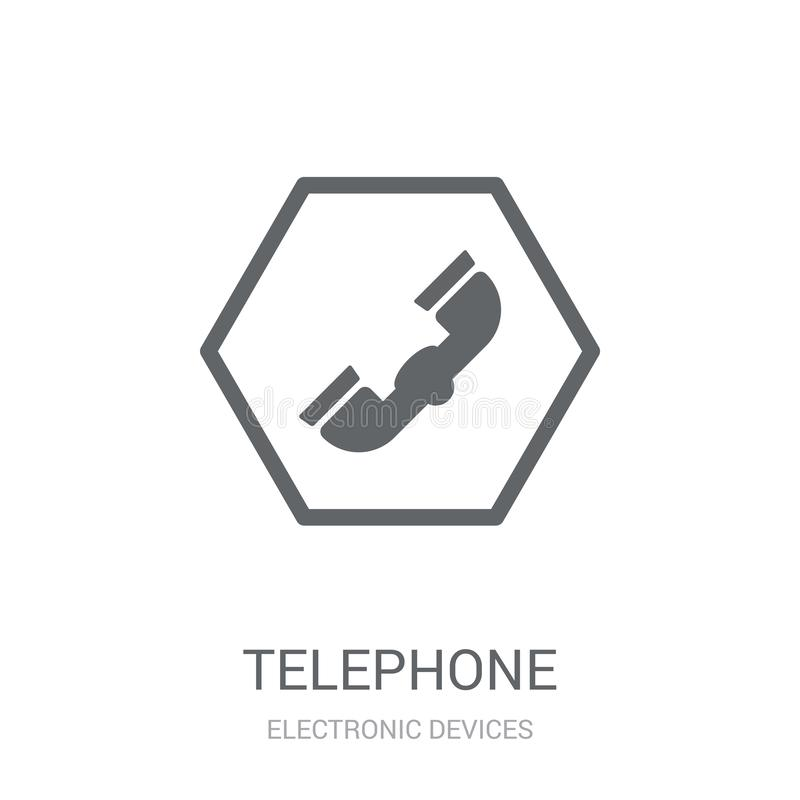 Telephone icon. Trendy Telephone logo concept on white background from Electronic Devices collection royalty free illustration
