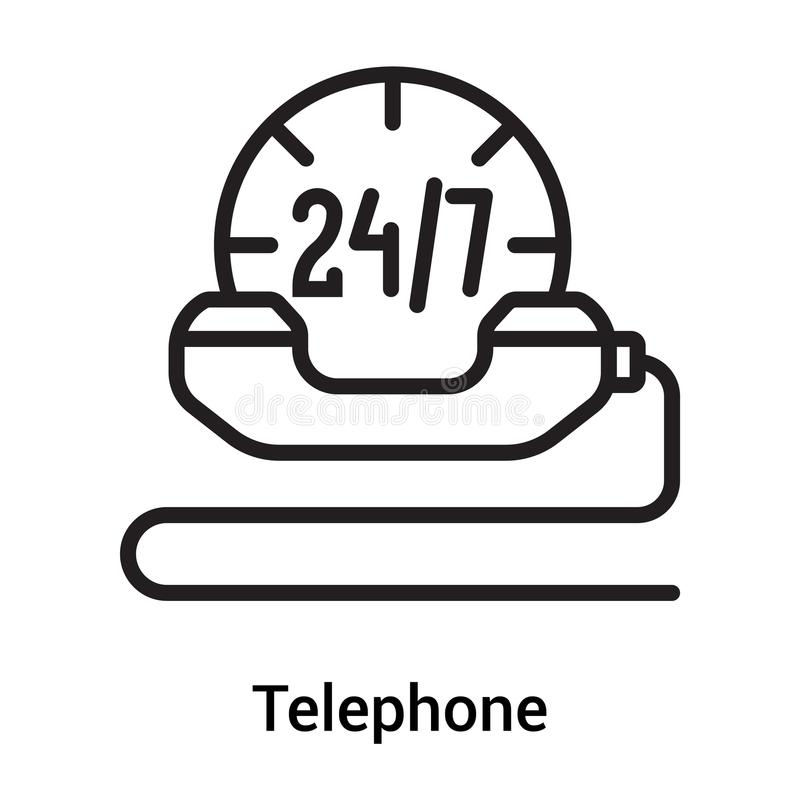 Telephone Icon Vector Sign And Symbol Isolated On White Background