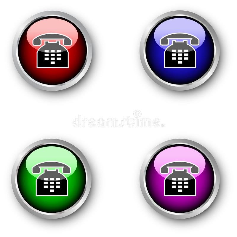 Download Telephone icons stock vector. Illustration of colour, sticky - 9017838
