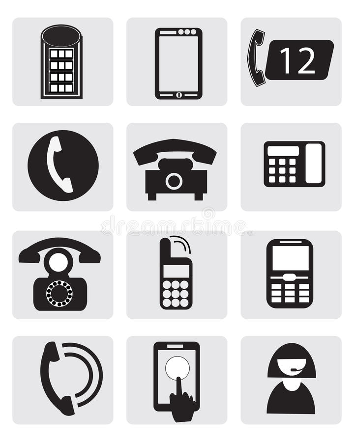 Download Telephone Icons Royalty Free Stock Photo - Image: 33412565