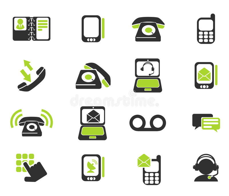 Telephone Icons. Telephone simply symbols for web and user interface vector illustration