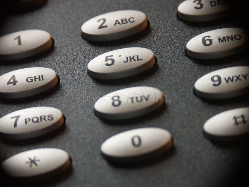 Telephone keypad. Keypad of a fixed telephone stock photo