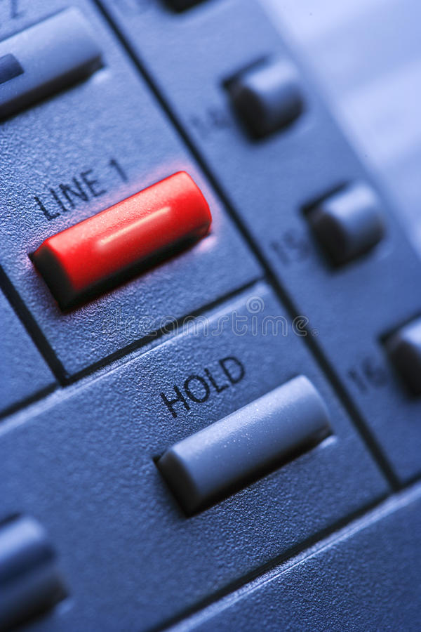 Download Telephone With Lit Line One Button Stock Photo - Image: 12969302
