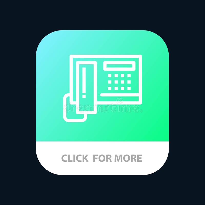 Telephone, Phone, Cell, Hardware Mobile App Button. Android and IOS Line Version stock illustration