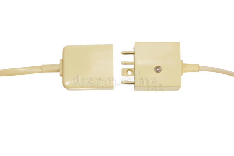 Telephone Plugs and Sockets stock photography