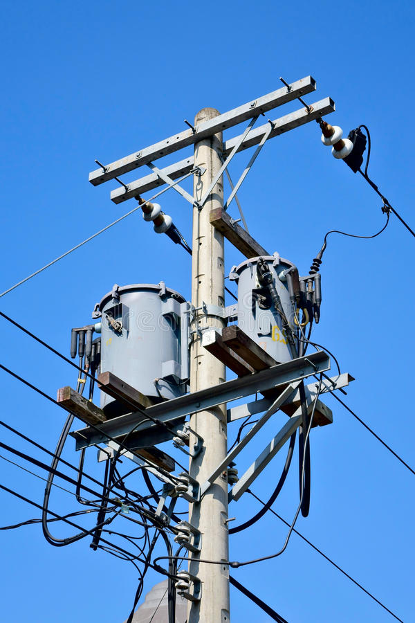 Telephone pole stock image