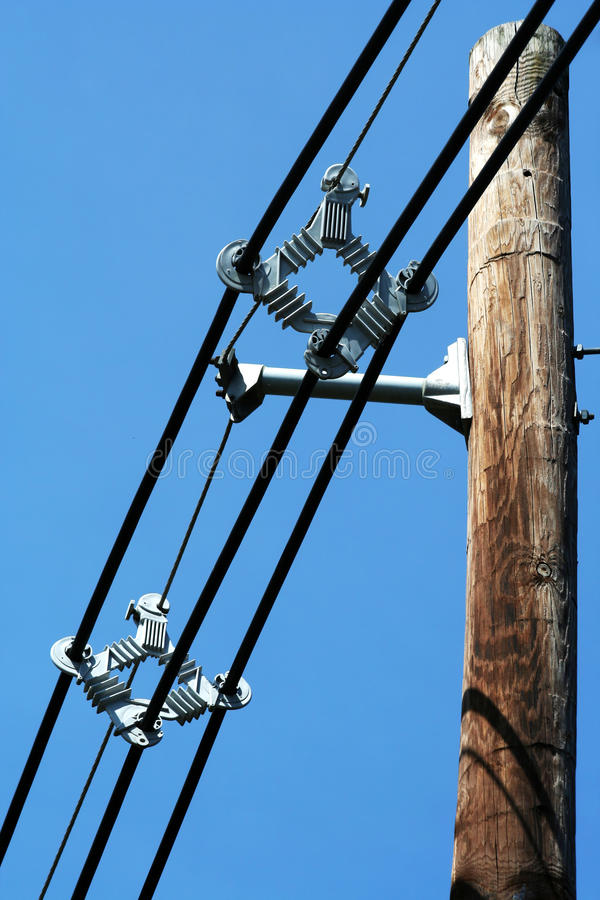 Telephone pole with wires stock photo. Image of industry - 19336456