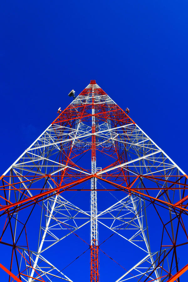 Telephone poles. Of Thailand , Communications technology of Thailand stock photography