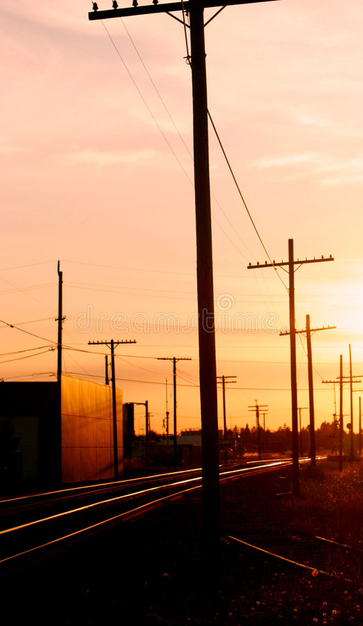 Download Telephone Poles Along The Railroad Tracks Stock Image - Image: 1860271