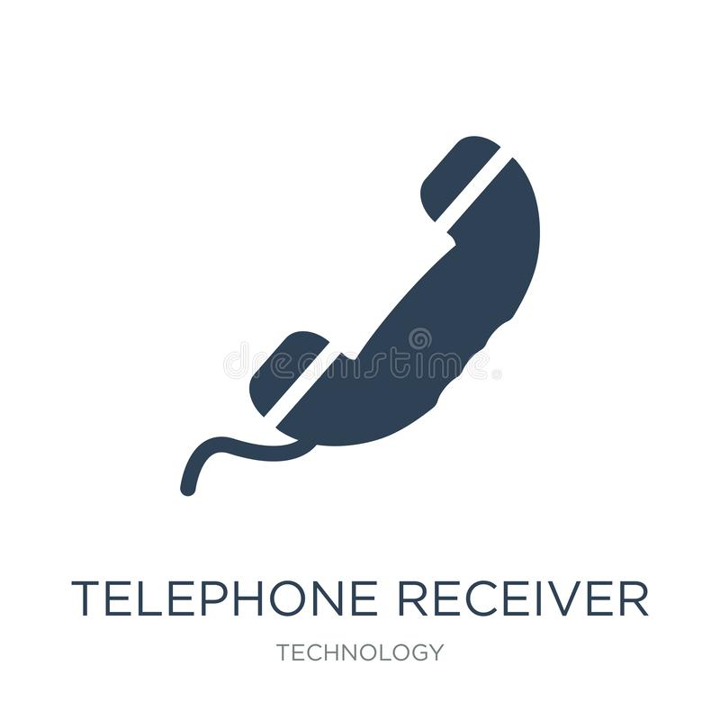 telephone receiver icon in trendy design style. telephone receiver icon isolated on white background. telephone receiver vector stock illustration