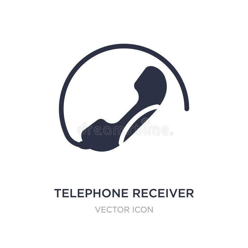 telephone receiver icon on white background. Simple element illustration from Technology concept vector illustration