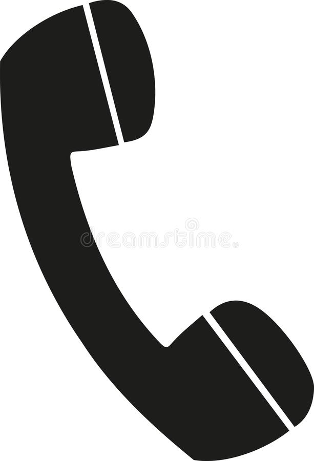Telephone receiver vector royalty free illustration