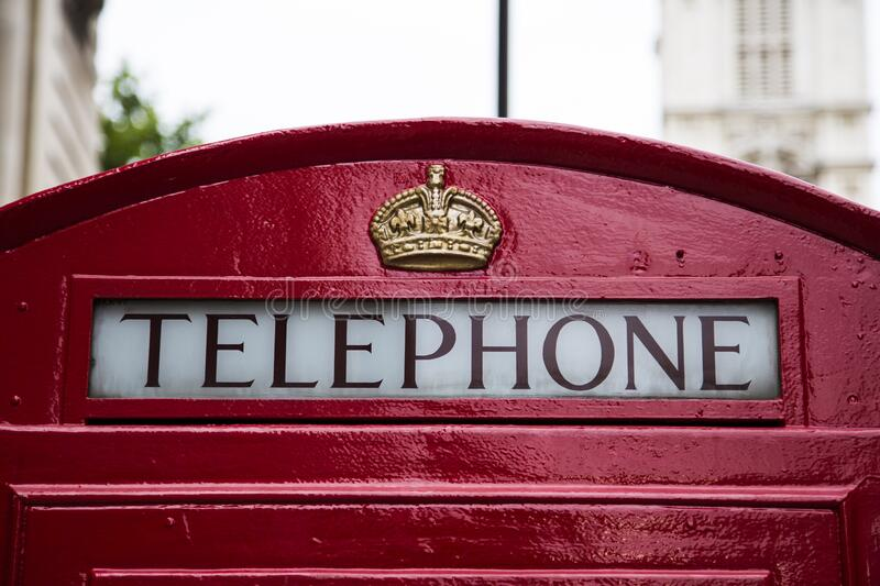 Telephone Red Gold Crown Booth Free Public Domain Cc0 Image