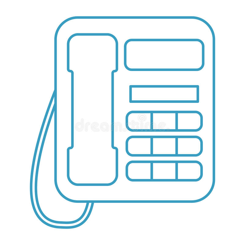 Telephone. Simple home telephone icon vector royalty free illustration