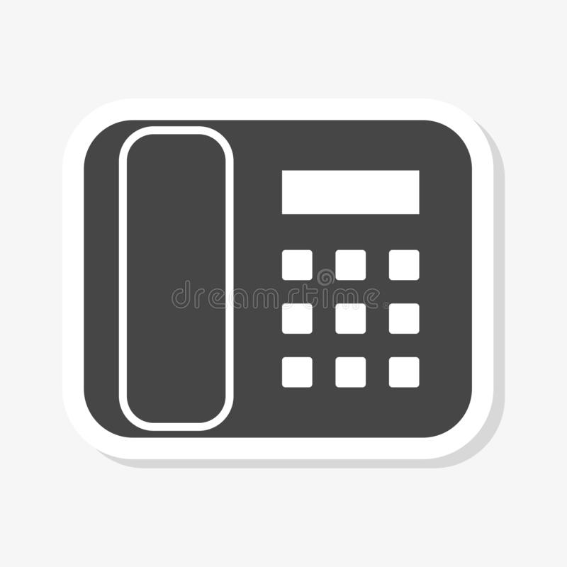 Telephone sticker, Phone icon in flat style stock illustration
