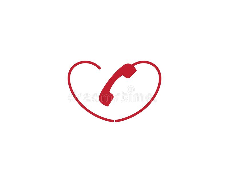 Telephone symbol illustration. Design vector illustration