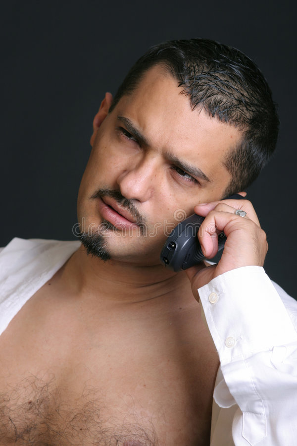 Download Telephone talk stock photo. Image of mustache, beard, listen - 2702926