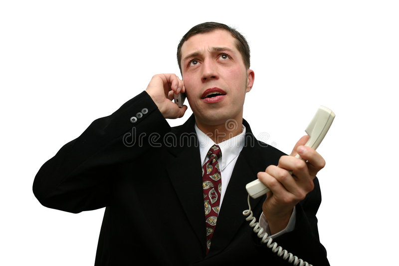 Telephone talk royalty free stock photo