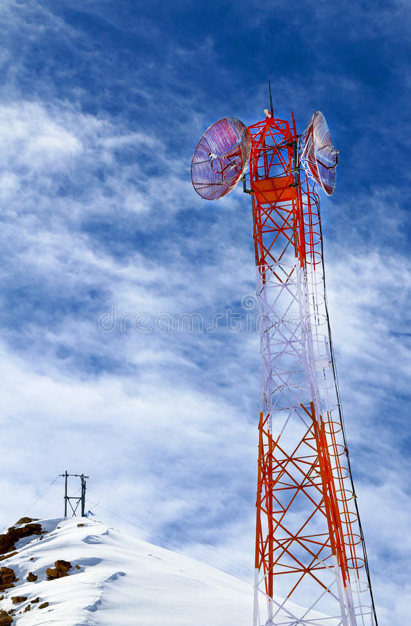 Download Telephone tower stock image. Image of frame, transmitter - 24989721