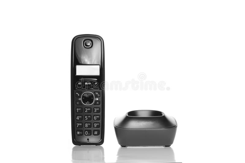 Download Telephone On White Background Stock Image - Image of phone, alarm: 28726465