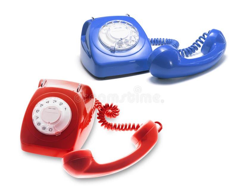 Telephones. On Isolated White Background stock image