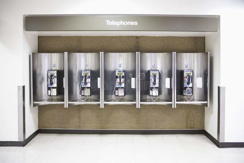 Download Telephones in an airport stock image. Image of calling - 3282941