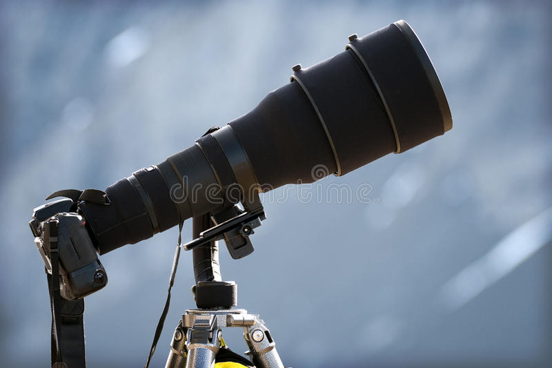 telephoto объектива стоковая фотография rf