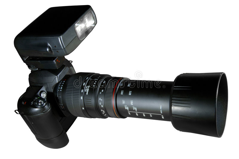 Telephoto Camera w/Paths royalty free stock photos