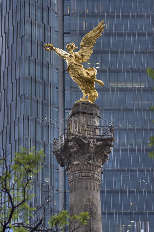 Beautiful Angel of Independence monument in Mexico City royalty free stock photography