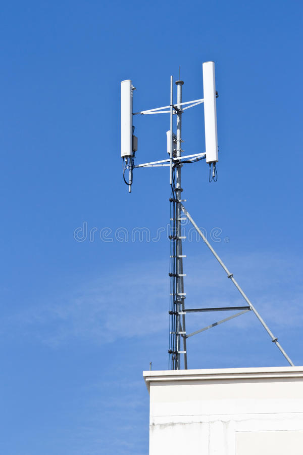Telephoto View Of Rooftop A Television Royalty Free Stock Image