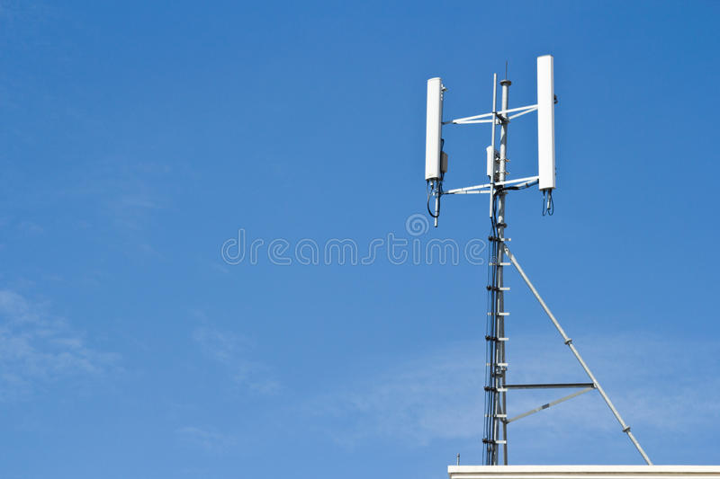 Telephoto View Of Rooftop A Television Stock Photo
